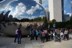 Wolkenpoort de Boon in Chicago, Illinois stock foto