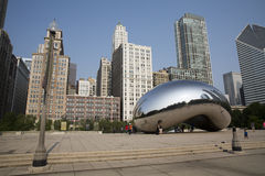 Wolkenpoort of de Boon in het Millenniumpark van Chicago Stock Fotografie