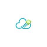 Wolkenpost-Medientechniklogo Lizenzfreie Stockbilder