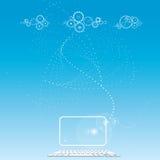 Wolkenrechnen- Daten sotrage - Sozialvernetzung Stockbild
