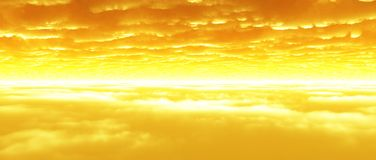 Wolkenschichten an der Dämmerung Stockfoto