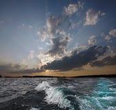 Wolkensonnenuntergang Lizenzfreie Stockbilder