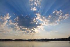 Wolkensonnenuntergang Stockbild