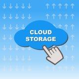 Wolkenspeicherknopf lizenzfreies stockfoto