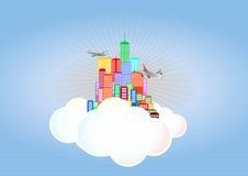 Wolkenstad Stock Afbeelding