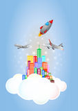 Wolkenstad Royalty-vrije Stock Afbeeldingen