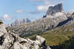 Wolkenstein - Dolomiet Stock Foto