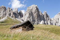 Wolkenstein - Dolomites Royalty Free Stock Image
