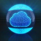 Wolkensymbool op bol door binaire code wordt gevormd die Royalty-vrije Stock Foto