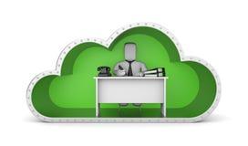 Wolkentechnologie, metafoor Royalty-vrije Stock Foto