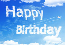 Fijne Verjaardag In De Hemel.Wolkentekst Gelukkige Verjaardag Op De Hemel Stock