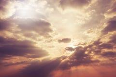 Wolkentextuur in hemel stock foto