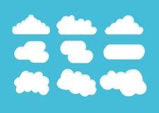 Wolkenvector Stock Afbeelding