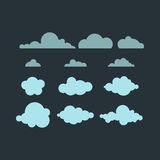 Wolkenvektorikone Stockfoto