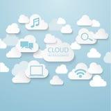 Wolkenverbindung lizenzfreie abbildung