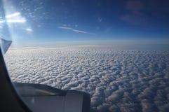 Wolkenvliegtuig royalty-vrije stock foto