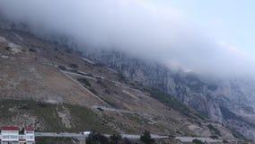 Wolkenvorm op de Rots van Gibraltar stock footage