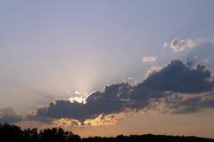 Wolkenzonsondergang Stock Fotografie