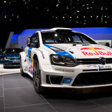 Wolkswagen-Polo WRC Genf 2014 Stockfoto