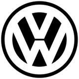Wolkswagena VW logo ikony producent samochodów royalty ilustracja