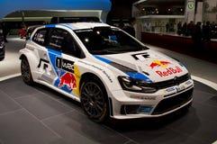 Wolkswagenpolo WRC Genève 2014 Royalty-vrije Stock Foto