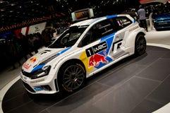 Wolkswagenpolo WRC Genève 2014 Royalty-vrije Stock Foto's