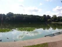 Wollaton Hall lake stock photo