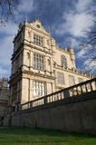 Wollaton Hall in Nottingham England. An architectural detail of Wollaton Hall in Nottingham, United Kingdom. The stately home was constructed between 1580 and Royalty Free Stock Images