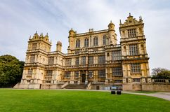 Wollaton Hall, Nottingham. The exterior and facade of Wollaton Hall in Wollaton Park, Nottingham, UK in April 2019 stock images