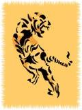 Wolldecke mit Tiger Stockfoto