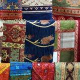 Wolldeckengewebe von der Türkei im Basar Lizenzfreies Stockbild