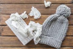 Wolle bedeckt und Virus mit einer Kappe Stockbilder