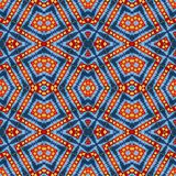 Wolle wärmt klares buntes Muster für Einklebebuch, nahtlose Kaleidoskopmontage für Kissen, Decke, Kissen, Plaid, Tischdecke, Clo Lizenzfreie Stockbilder