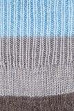 Wollen gestrickter strukturierter Hintergrund Lizenzfreies Stockbild