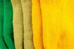 Wollen gestrickter strukturierter Hintergrund Stockfotos