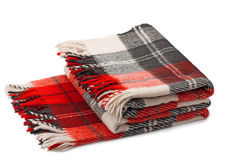 Wollen plaid Stock Foto