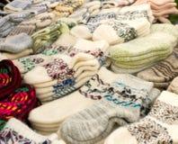 Wollen sokken royalty-vrije stock foto's