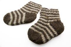 Wollen sokken royalty-vrije stock afbeelding