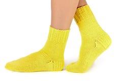 Wollen sokken Stock Afbeelding