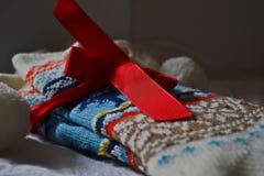 Wollen sokken Stock Foto