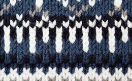 Wollen textuur met patroon royalty-vrije stock fotografie