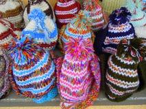 Wollene Hüte lizenzfreies stockbild