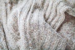 Wollestrickjackeabschluß oben stockfoto