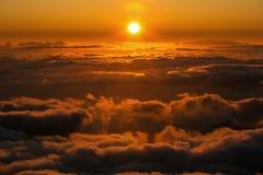 Wollige rote Wolken Lizenzfreies Stockbild