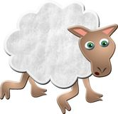 Wollige Schafe stock abbildung