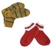 Wollige Socken Lizenzfreies Stockbild