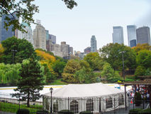 Wollman isbana i Central Park arkivbild