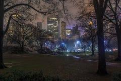 Wollman lodowisko w centrala parku przy nocą Obrazy Royalty Free