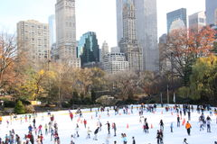 Wollman rink. Wollman ice skating arena in Central Park, New York Royalty Free Stock Photo