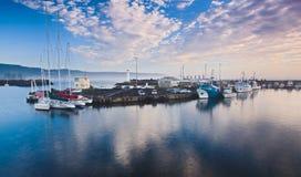 Wollong Yachts Blue Light Stock Photo
